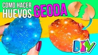Cómo hacer 💎 HUEVOS GEODA 💎 ¡¡CRISTALES en un huevo!! * EXPERIMENTOS CASEROS fáciles para niños