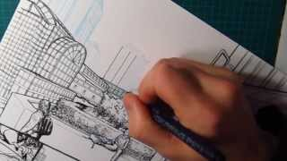 Dynamic Drawing | line, sketchy leaf pattern, and feathering inking demo