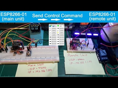 ESP8266, Control another ESP8266(remote unit) by ESP8266(main unit) act as the control central(P5/7)