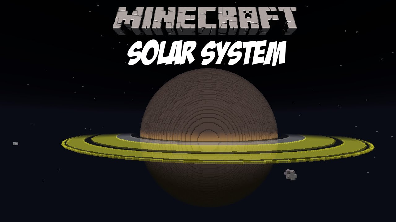 Minecraft  Solar System  Huge Scale Educational  YouTube