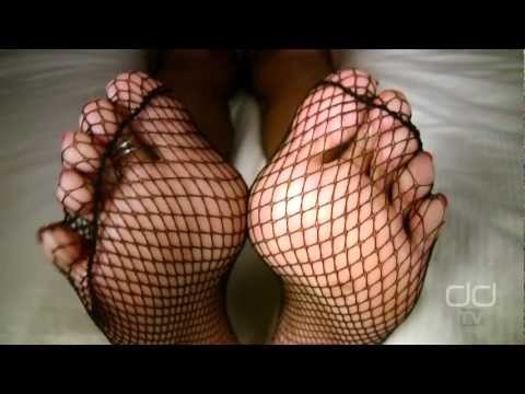 Darla TV - Sexy Feet in Fishnet Stockings, Toe Show Foot Tease