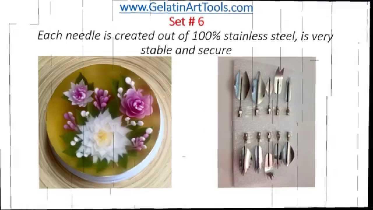 Be Fun Gelatin Art Tools Set 6 Youtube