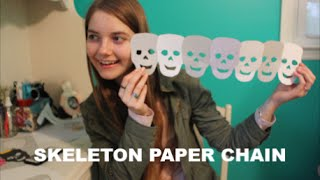 Skeleton Paper Chain