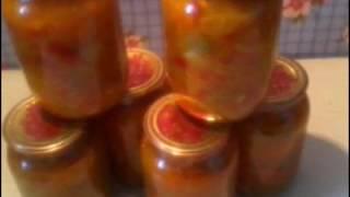 #Салат из зеленых и бурых (красных) помидор на зиму.#Заготовки на зиму.#Закатки