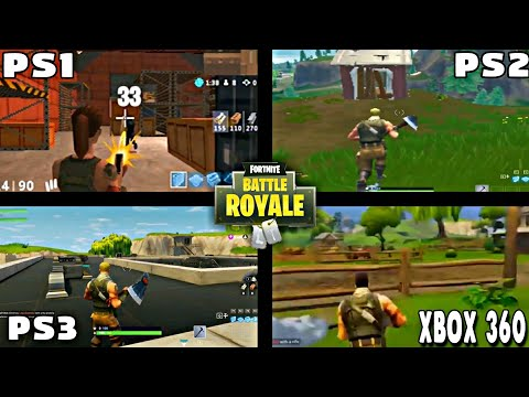 FORTNITE BATTLE ROYALE PS1 VS PS2 VS PS3 VS XBOX 360