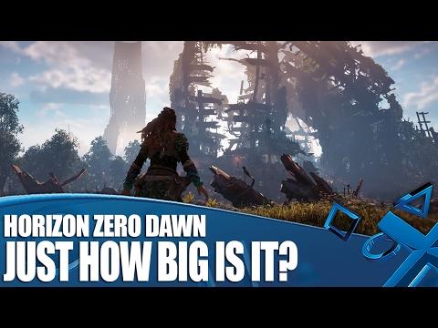 Horizon Zero Dawn - So Just How Big Is It?