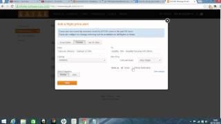 How to set up price alert on kayak?