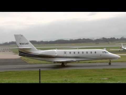 Private Jet At Manchester Airport - Reg: N363AP