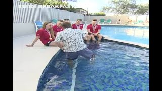 BBC Anchor Falls In A Pool During Live Interview