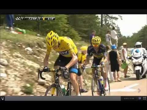 Froome unhumanly attack against Contador on mont ventoux