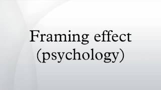Framing effect (psychology)