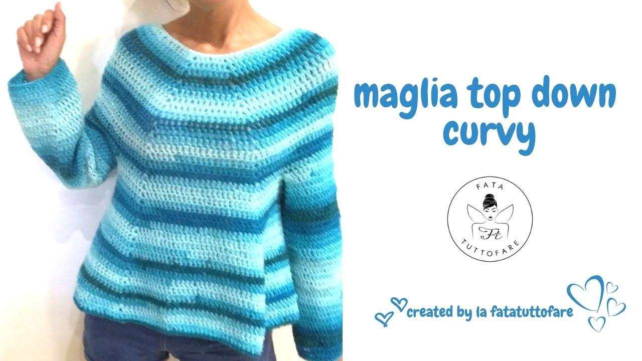 TUTORIAL: Maglione top downmaglia curvy***lafatatutttofare***
