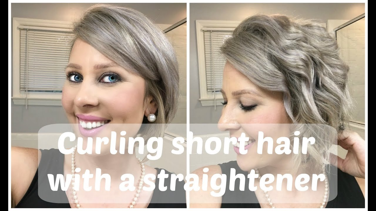 Curling Short Hair With A Straightener Youtube