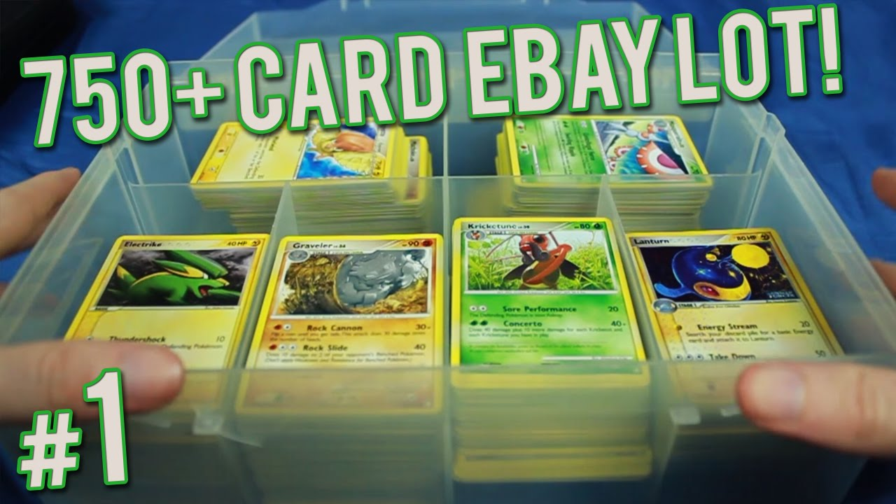Pokemon Cards 750 Card Ebay Lot Part 1 Of 6 Youtube