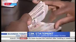 CBK statement:  banks that handled NYS cash to pay