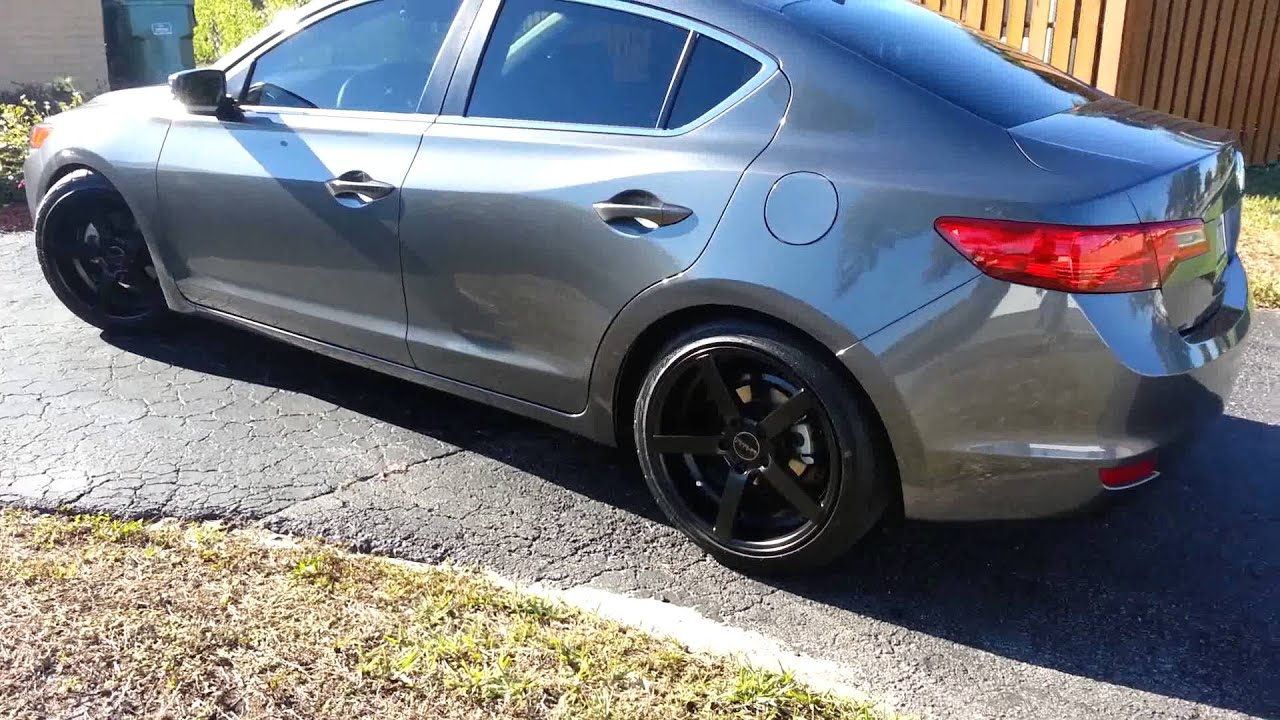 Acura ILX Lowered And Rims YouTube - Acura ilx rims