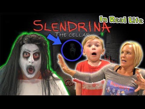 Slendrina Game in Real Life - Granny and Grandpa's Secret Daughter! | DavidsTV