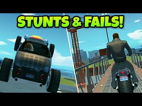 Gangstar New Orleans: Stunts & Fails (Funny Moments)