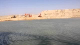 قناة السويس الجديدة: أول فيديو حصرى من على الكراكة طارق بن زياد بالدفرسوار