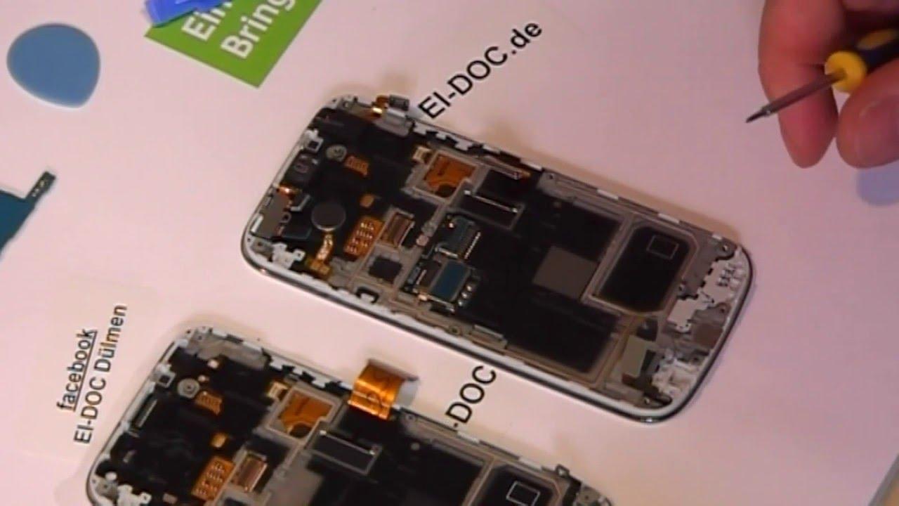 Smartphone Samsung Galaxy S4 Mini Gt I9192: Samsung S4 MINI I9195 Handy LCD Display Umbau Wechsel