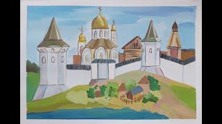 Древнерусский город крепость