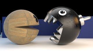 Granite Pacman Vs Chain Chomp - The Epic Battle