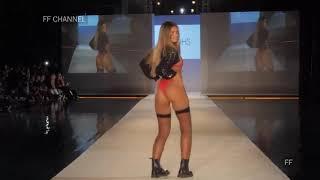 Сексуальная модель виляет попой на подиуме тверк на подиуме