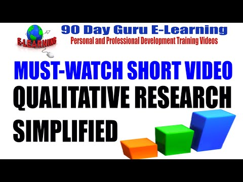 Qualitative Research Simplified by 90 Day Guru E-Learning