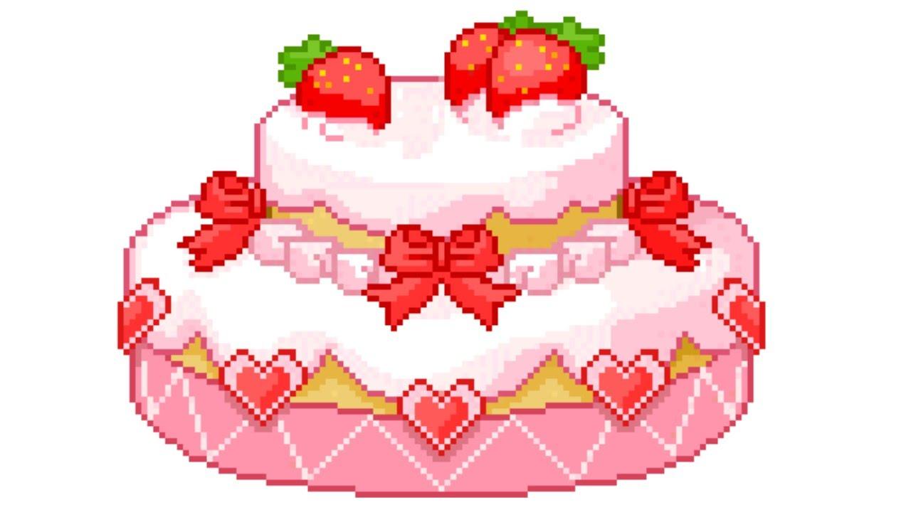 Анимация торт на прозрачном фоне