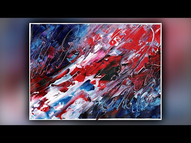 Satisfying Abstract Painting / Acrylics / Colorful / Palette Knife / Demo #091