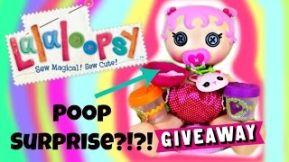 Magically Pooping Surprises! Lalaloopsy Baby Poops Surprises in Her Potty! And a INSTAGRAM GIVEAWAY!