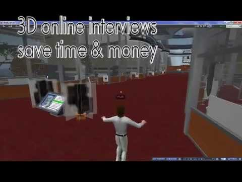 The new iJobs online 3D Virtual Reality Job Interview Simulator