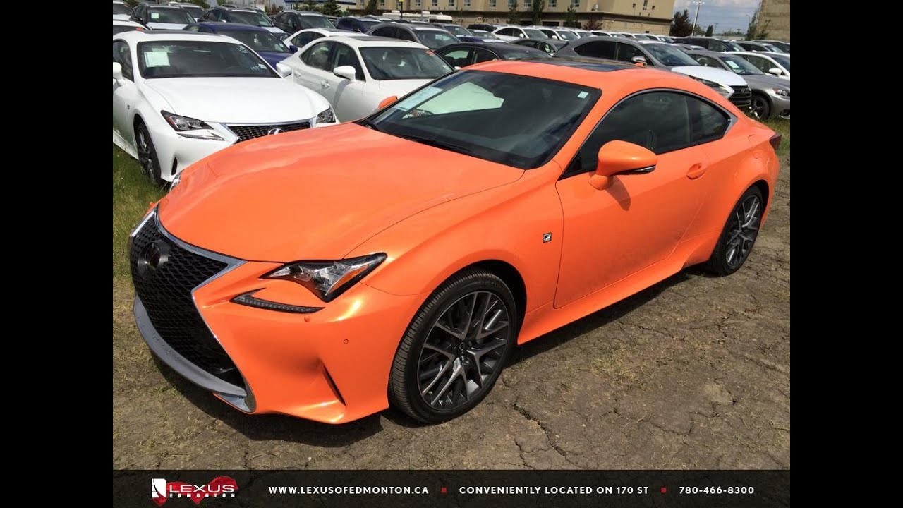 new orange solar flare 2015 lexus rc 350 awd f sport series 2 review edmonton ab youtube. Black Bedroom Furniture Sets. Home Design Ideas