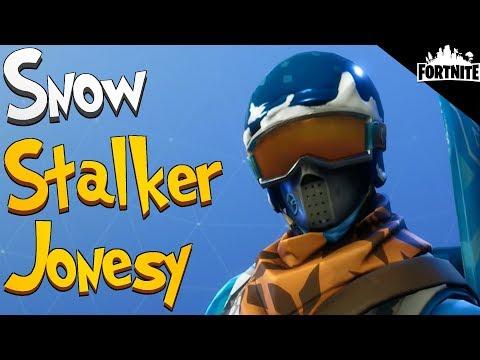 FORTNITE - Snow Stalker Jonesy And Vacuum Tube Rifle Gameplay (Retrieve The Data Tips)