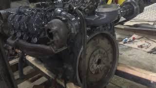 Устранили подсос воздуха, пуск дизельного двигателя Mercedes OM402LA на полу после капиталки!