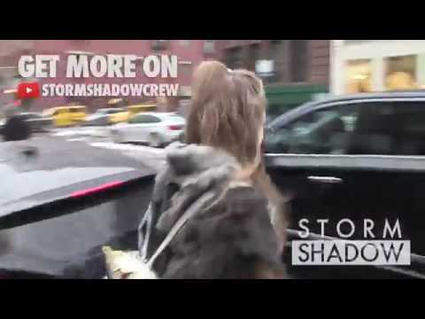 Gigi Hadid leaving her apartment in New York/ Out for shopping in EGG Shop