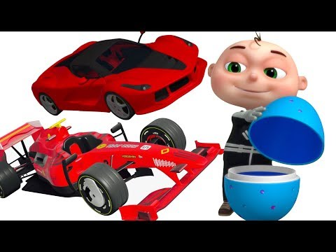 F1 Car vs Super Car Race | Vehicle Assembly For Kids | Videos For Toddlers