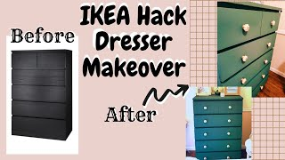Ikea Dresser Hack Makeover Diy / Updating Old Furniture With Chalkpaint And Hardware Knobs
