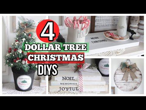 4 DOLLAR TREE FARMHOUSE CHRISTMAS DIYS | DOLLAR TREE CHRISTMAS DECOR 2O19