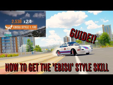 Forza Horizon 3 - EBISU STYLE SKILL - How to Get it - GUIDE