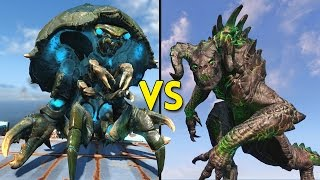 Fallout 4 - 50 DEATHCLAWS vs 50 NUKALURK - Battles 60