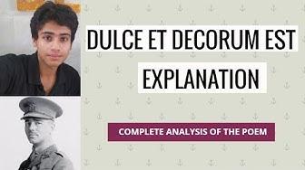 Dulce et decorum est analysis and explanation