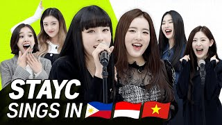 Download lagu K-POP STARS sing in THREE Languages🎤| TAG/INA/VIET| STAYC | TRANSONGLATION