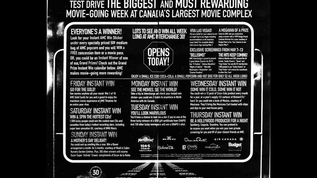 toronto movie theatre grand opening ads youtube
