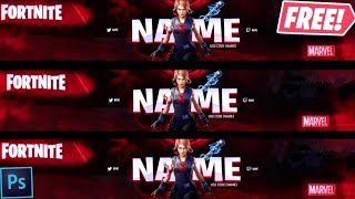 [FREE] FORTNITE MARVEL YOUTUBE BANNER BLACK WIDOW SKIN! TEMPLATE DOWNLOAD GFX