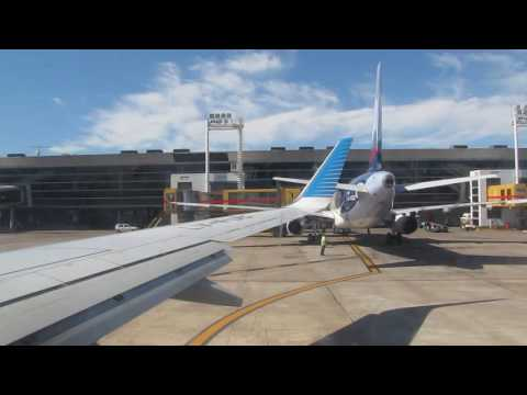 Flight attendant welcome speech on Aerolíneas Argentinas flight from Buenos Aires to São Paulo