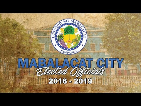 Mabalacat City Elected Officials (2016-2019)
