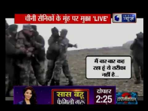 Live visuals of Chinese soldiers try intrued in indian territory