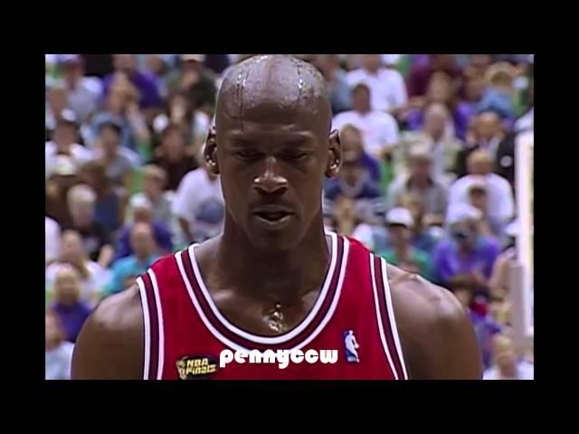 Michael Jordan last 3 minutes in his FINAL BULLS GAME vs Jazz (1998)