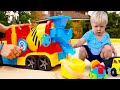 Развивающее видео для малышей про машинки. Учим машинки: Бетономешалка и Да Да игрушки!